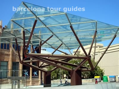 CaixaForum entrance canopy