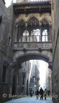 Bridge in Barcelona Gothic District