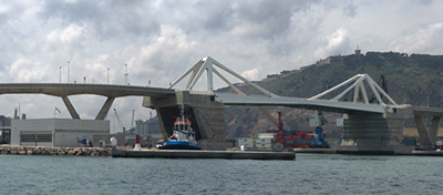 The Gate of Europe bridge from the Sea.