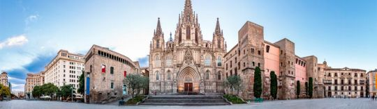 Panoramic view of Barcelona Cathedral