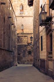 The maze of medieval streets by the back of Barcelona's Cathedral